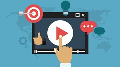 Illustration d'une main qui clique sur un bouton pour lancer un élément multimédia