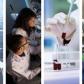 Un panneau solaire, deux chercheurs, des tubes à essais, une chercheuse  qui manipule des tubes à essais